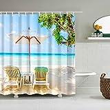 XCBN Tiere Cat Shell Badezimmer Duschvorhang Stoff Wasserdichter Badvorhang mit Haken Hochzeitsdekor Vorhang A7 90x180cm