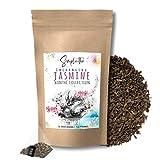 SIMPLICITHÉ Jasmin-Tee im Pyramidenbeutel, ganze Grüntee Blätter in biologisch abbaubaren Teebeutel, Grüner Tee mit Jasmine Blüten, 15x3g