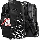 LUXXXE BAGS® Herren Rucksack   30L   wasserdicht & hochwertig   ergonomischer Sportrucksack mit Laptopfach & Reflektorstreifen   ideal für Arbeit, Reisen, Sport & Motorrad
