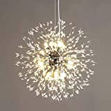 Modern Kristall Kronleuchter, Feuerwerk Löwenzahn Sputnik Kronleuchter Leuchte Pendelleuchte, Hängelampe für Schlafzimmer, Wohnzimmer, Esszimmer, Küche