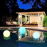 Dantazz Schwimmbad Licht LED Schwimmlicht Wasserdichte Pool-Beleuchtung Licht, Schwimmende Kugellampe Landschaft Kugel Licht Nachtlichter für Haus Garten Pool Freien Hof Dekoration (Mehrfarbig)