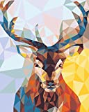 """DIY Paint by Numbers Kit for Adults - Christmas Deer Doe Landscape Scene Paintings Arts Craft for Home Wall Decor 