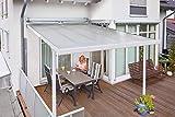 Gutta Terrassenüberdachung Aluminium, weiß, Typ D, 3060 mm breit, 4060 mm tief