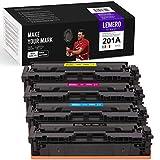 LEMERO Utrust 201A Tonerkartuschen Kompatibel für HP CF400A CF401A CF402A CF403A für HP Color Laserjet M252 M252N M252DN M252DW M277n M277DW M277C6 Drucker (4er-Pack)