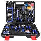 LETTON Werkzeugkoffer 37-teilig, allgemeiner Heimwerker-Werkzeugsatz für die Haushaltsreparatur mit Werkzeugkasten-Aufbewahrungskoffer