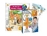 tiptoi Ravensburger Set: Wieso? Weshalb? Warum? | Die Welt der Pferde und Ponys (Kinderbuch) + 00036 Der Stift - WLAN-Edition + 2X Create-Sticker
