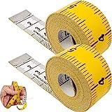 Schneidermaßband, universal Maßband mit 150 cm Gesamtlänge, 2 Pack, 2 in 1 Maßband mit CM und INCH Skalierung, Ausmessung von Kleidung, Körper-Fett, Rollmaßband, Messband, aus Glasfieber Kunststoff