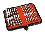 Gima - Gynäkologisches Set von Hegar-Dilatatoren, enthält 14 Chromdilatatoren mit einem Durchmesser von 4 bis 17 mm, in einem Praktischen Instrumentenkoffer Enthalten
