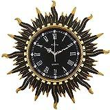 tuobaysj Wanduhr Quarz-Wanduhr Im Europäischen Stil Wohnzimmeruhr Home Silent Clock Wand-Wanduhr