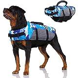 NXL Schwimmweste FüR Hunde Schwimmweste FüR Haustiere, Rettungsweste Mit Griff FüR Wassersicherheit Am Strand, Pool, Bootfahren,Blau,XS