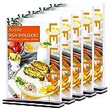 LELADY 5 Stück Din A4 Tischaufsteller schräg, Werbeaufsteller Glasklar Acryl, Doppelseitig T-Ständer, Menükartenhalter für Speisekarten, Tischkarten, Fotorahmen & Werbung