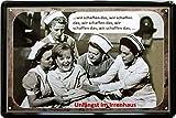 Tin Sign Blechschild 20x30 cm Angela Merkel im Irrenhaus Wir schaffen das witzige Wand Deko Bar Kneipe Sammler Geschenk