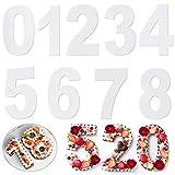 AMACOAM Backform Zahlen Groß Backformen Set Kuchen Zahlenform Zahlen 10 Inch Kuchenform Torten Zahlen 0-8 Große Anzahl Back Kuchen Form für Geburtstag Hochzeit Jahrestag Tortendekoration 9 Stück