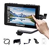 Feelworld F5 Pro V2 5.5 Zoll Touchscreen 3D LUT DSLR Kamera Field Monitor mit externem Kit Installieren Sie die Ausrüstung IPS FHD1920x1080 4K HDMI-Eingang Ausgang 5 V Typ