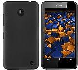 mumbi Hartschale kompatibel mit Nokia Lumia 630 / 635 Handy Hard Case Handyhülle, schwarz
