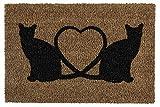 andiamo Schmutzfangmatte Kokos Katzen Fußmatte für innen und außen, 40 x 60