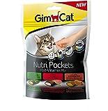 GimCat Nutri Pockets Malt-Vitamin Mix - Knuspriger Katzensnack mit cremiger Füllung und funktionalen Inhaltsstoffen - 1 Beutel (1 x 150 g)