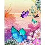 Rahmenloser Schmetterling DIY Gemälde nach Zahlen Wandkunst Bild Leinwand nach Zahlen Handbemalt für Wohnkultur Geschenk A5 60x75cm