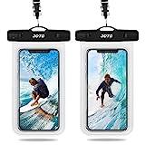 JOTO 2 Stück Uni Wasserdicht Handyhülle, IPX8 Unterwasser Tasche für Handy bis 6.9' iPhone 12/11/Xs Pro Max/XR/X/8/7/6S/Plus/Galaxy S20Ultra/10//9/8 /Note 10/10+/9/8/Pixel4/3/2/XL/Huawei –Klar