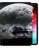 Für iPad Air3 10,5-Zoll-Gehäuseabdeckung, heulende leichte Wolf weiße dunkelschwarze Tasche Slim Shell Cover für iPad iPad Air3