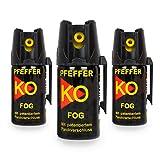 Buyemo Pfefferspray KO Fog mit Sprühnebel 40ml | Hundeabwehr Selbstschutz Abwehrspray Verteidigungsspray | (2er Set)