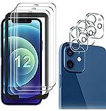 DAZZLE COLOR,(3 Stk) Schutzfolie Panzerglas+ Kamera Panzerglas(1 Stück) für iPhone 11 Pro, Frei von Kratzern, 9H Härte, HD Displayschutzfolie