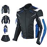 A-Pro Motorradjacke CE Protektoren Sport Textil Motorrad Thermofutter Blau L