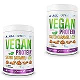 2x ALLNUTRITION Vegan Protein 500g | Salted Caramel | Whey Eiweißpulver Abnehmen | Nahrungsergänzungsmittel