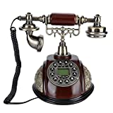 ADSE Retro-Telefon FSK DTMF LCD Antikes Telefon Retro-schnurgebundenes Telefon Desktop-Festnetztelefon Vintage Analoges Telefon mit Wahlwiederholung Home Office-Telefon mit Pause