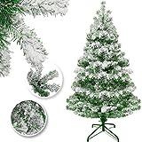 KESSER® Weihnachtsbaum künstlich 210cm mit 775 Spitzen, Tannenbaum künstlich Edeltanne Schnellaufbau inkl. Christbaum-Ständer, Weihnachtsdeko – Schnee 2,1