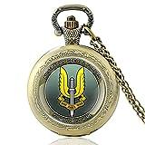 Australische Spezialeinheiten Gehen Sie hart oder gehen Sie nach Hause Vintage Quarz Taschenuhr Männer Frauen Anhänger Halskette Stunden Uhr Geschenke