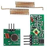 LICHONGUI 3PCS 433MHZ RF Wireless Receiver-Modul-Sender-Sender-Kit + 2pcs RF-Frühlingsantenne Open-Smart - Produkte, die mit Offiziellen Boards zusammenarb