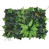 Künstliche grüne Pflanzen-Paneele mit UV-Hecken und Zäune, Wandpaneele, grüner Gras, Hintergrund für Privatsphäre, Blumen-Wandpaneel für den Außenbereich, Gartendekoration