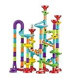 Cyhamse Mehrfarbige Murmelbahn Marble Run Set DIY Kugelbahnen Lern Und Konstruktionspielzeug Mit Bahnelementen Und Glasmurmeln Für Kinder Mädchen Jungen