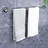 BABYCOW Handtuchhalter Wandmontierter Handtuchhalter, 304 Edelstahl Bad Einzel-Handtuchhalter, Runde Lange Handtuchstange, für Küche oder Toilette, Geschirrtuch-Aufhänger, 40CM120CM (Größe: 39,4 Zol
