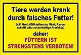 Melis Folienwerkstatt Schild - Tiere Werden krank - 30x20cm   3mm Aluverbund – S00039-016-C -20 Varianten