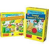 HABA Meine ersten Spiele – Spielesammlung, 10 erste Spiele auf dem Bauernhof für 1-3 Kinder ab 2 Jahren & Meine ersten Spiele Teddys Farben und Formen, Legespielsammlung für 1-4 Kinder ab 2 Jahren