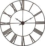 Kare Design Wanduhr Factory 120 cm, moderne, grosse XXL Dekouhr im Vintage Design, braun (H/B/T) 120x120x4,5