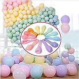 100 Stück Party Luftballons Pastell 10' Macaron Candy Coloured Latex Party Luftballons für Hochzeit Geburtstag Engagement Baby Dusche