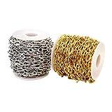 Harilla 2Pc Edelstahl Chain Extender Oval Link für DIY Schmuckherstellung Armband