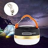 JTYX LED Camping Laterne Zeltlampe Mini Tragbare Campingleuchten Outdoor Wandern Nacht Hängelampe USB Wiederaufladbar