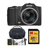 KODAK PIXPRO FZ152 Kompakte Digitalkamera mit 15-facher optischer Zoom und Koah Nostrand Gadget Tasche und 32 GB SD-Karte Paket (3 Stück)
