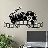 Kino Wandtattoo Film Film Tape Poster Heimkino Action Zeichen Spielzimmer Aufkleber Video Dekor Film Streifen Wandkunst A2 57x32