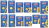 TESTPAKET Pasta Barilla italienisch (12 x 500g) 7 Arten von Nudeln kurze Nudeln ( Fusilli - Tortiglioni - Penne Rigate - Pasta Mista-Farfalle - Risoni ' Ditalini lisci )