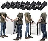 AGT Büromöbel Tragegurte: 2er-Set Doppel-Tragegurte für 2 Personen, belastbar bis 360 kg, Tasche (Tragegurte für Möbel)