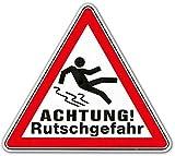Warnschild Rutschgefahr ✓ Hinweisschild ✓ Gefahrenschild ✓ Achtung ✓ Glätte Vorsicht Dachlawinengefahr ✓ Hinweisschild ✓ Gefahrenschild ✓ Achtung ✓ EIS