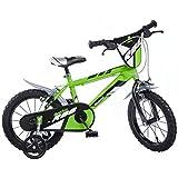 Dino Bikes Jungen Kinderfahrrad Fahrrad, Grün, 16 Inch
