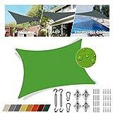 Sonnensegel Obi Blau quadratisch 3.5x4m UV-Strahlen Schutz Regenfeste Sonnenschutzblende Atmungsaktiv Hof Für Terrasse Mit Schattensegel-Befestigung