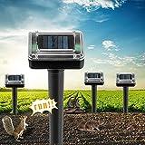XHTANG 4 Stück Maulwurfabwehr Solar ,mit IP56 Wasserdicht Ultrasonic Solar Maulwurfschreck ,Maulwurfbekämpfung,Mole Repellent, Maulwurf vertreiber,Wühlmausschreck,Schädlingsbekämpfung für Den Garten