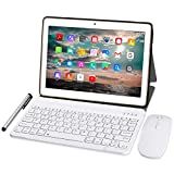 Tablet 10 Zoll 4G LTE - TOSCIDO M863 Tablets Android 10.0,Tablet PC 4 GB/RAM,64 GB/ROM ,Otca Core,Dual SIM,WiFi, Tastatur |Wireless Maus|M863 Tablet Cover und Mehr Enthalten - G